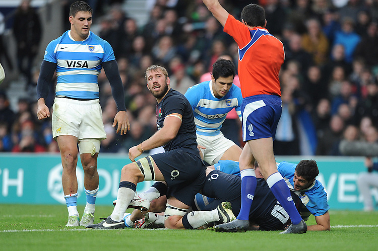of Argentina scores a try in extra time during the Old Mutual Wealth Series match between England and Argentina at Twickenham Stadium on Saturday 26th November 2016 (Photo by Rob Munro)