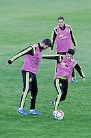 Spanish National Team's  training at Ciudad del Futbol stadium in Las Rozas, Madrid, Spain. In the pic: Pique, Koke and Bartra. March 25, 2015. (ALTERPHOTOS/Luis Fernandez) /NORTEphoto.com