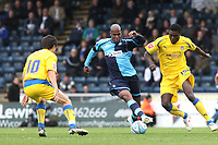 Michael Duberry of Wycombe Wanderers and former Chelsea player and England U21 International in action  Colchester's during Wycombe Wanderers vs Colchester United, Coca Cola League Division One Football at Adams Park on 17th October 2009