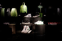 NEW YORK, NEW YORK - FEBRUARY 22: Nike products are exhibit on a Nike store, on February 22, 2021 in New York. NIKE, Inc. (NYSE:NKE) will trade ex-dividend in the next days , being NIKE's earnings almost flat over the past five years.  (Photo by John Smith/VIEWpress)