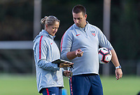 Cary, NC - October 9, 2018: The USWNT trains in preparation for the group stage of the 2018 CONCACAF Women's Championship at WakeMed Soccer Park.