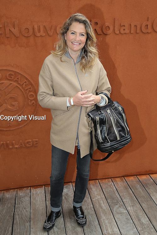 Astrid Bard seen at 'Le Village de Roland Garros' during Roland Garros tennis open 2016.