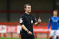 Referee Anthony Goggins during Crawley Town vs Carlisle United, Sky Bet EFL League 2 Football at Broadfield Stadium on 21st November 2020