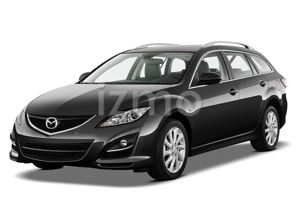 Front three quarter view of a 2011 Mazda 6 Active Wagon.