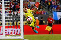 Action photo during the match Chile vs Bolivia at Gillette Stadium Copa America Centenario 2016. ---Foto  de accion durante el partido Chile vs Bolivia, En el Estadio Gillette, Partido Correspondiante al Grupo - D -  de la Copa America Centenario USA 2016, en la foto: Carlos Lampe<br /> <br /> --- 10/06/2016/MEXSPORT/PHOTOSPORT/ Andres Pina