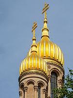 Russisch-Orthodoxe Kirche, Wiesbaden, Hessen, Deutschland, Europa<br /> Russian Orthodox Church, Wiesbaden, Hesse, Germany, Europe