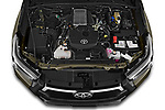 Car Stock 2021 Toyota Hilux Invincible 4 Door Pick-up Engine  high angle detail view