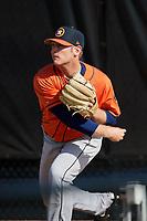 Houston Astros pitcher J.B. Bukauskas (35) in the bullpen before a Minor League Spring Training Intrasquad game on March 28, 2018 at FITTEAM Ballpark of the Palm Beaches in West Palm Beach, Florida.  (Mike Janes/Four Seam Images)