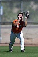 San Francisco Giants outfielder Dylan Davis (53) during an Instructional League game against the SK Wyverns on October 14, 2014 at Giants Baseball Complex in Scottsdale, Arizona.  (Mike Janes/Four Seam Images)