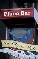 Europe/France/Normandie/Haute-Normandie/76/Seine-Maritime/Dieppe: Enseigne d'un Piano-Bar: La Clef de Sole