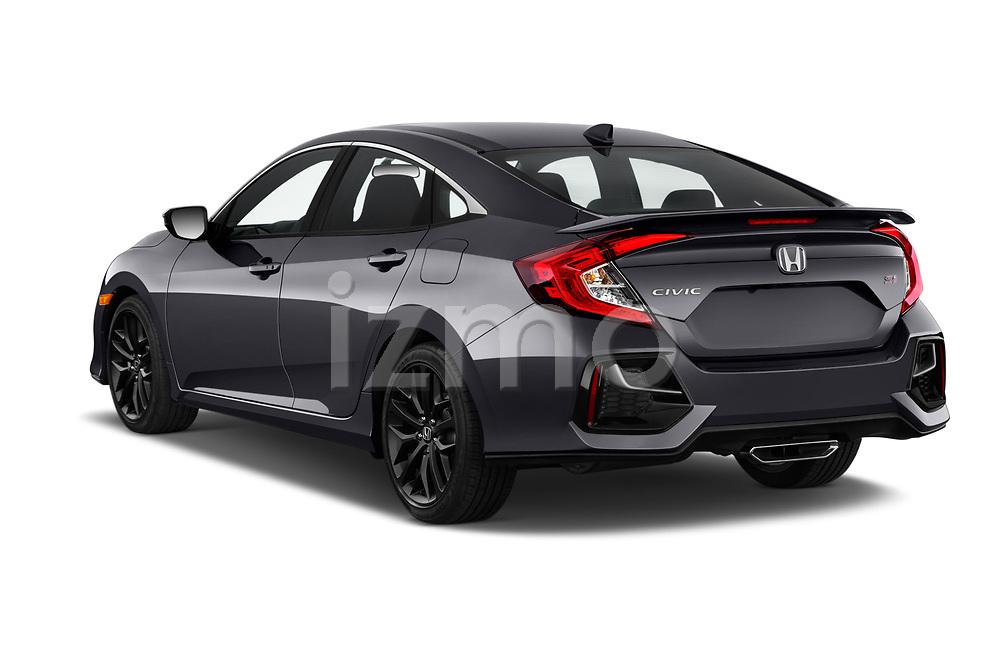 Car pictures of rear three quarter view of 2020 Honda Civic-Si-Sedan Si 4 Door Sedan Angular Rear