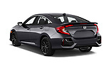 Car pictures of rear three quarter view of 2020 Honda Civic-Si-Sedan Si 4 Door Sedan Angular Rear