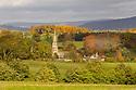 Edensor village, Peak District National Park, UK. November.