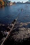 Rowing, the Head of the Charles Regatta, Mandela Crew, men's four oared racing shell, Boston, Charles River, Massachusetts, New England, USA, ..