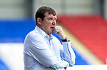 St Johnstone v East Fife…14.07.18…  McDiarmid Park    League Cup<br />Saints manager Tommy Wright watches the game<br />Picture by Graeme Hart. <br />Copyright Perthshire Picture Agency<br />Tel: 01738 623350  Mobile: 07990 594431