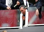 Nederland, Amsterdam, 19 april 2015<br /> Eredivisie<br /> Seizoen 2014-2015<br /> Ajax-NAC Breda (0-0)<br /> Trainer Robert Maaskant  van NAC Breda zit vanwege een schorsing op de tribune