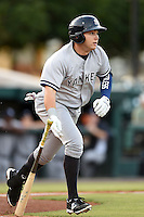 Tampa Yankees designated hitter Dante Bichette Jr. (25) during a game against the Lakeland Flying Tigers on April 3, 2014 at Joker Marchant Stadium in Lakeland, Florida.  Tampa defeated Lakeland 4-0.  (Mike Janes/Four Seam Images)
