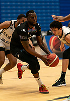 Martelle McLemore of Surrey Scorchers during the BBL Championship match between Surrey Scorchers and Newcastle Eagles at Surrey Sports Park, Guildford, England on 20 March 2021. Photo by Liam McAvoy.