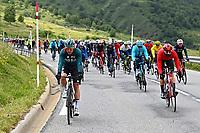 July 13th 2021, Saint-Gaudens, Haute-Garonne, France:  Start of stage 16 of the 108th edition of the 2021 Tour de France cycling race, a stage of 169 kms between El Pas de la Casa and Saint-Gaudens.