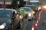 Officials conduct a DUI checkpoint in Carson City, Nev. on Sunday, Sept. 2, 2012. Several area agencies participated including Carson City Sheriff's Department, Nevada Highway Patrol and Lyon County Sheriff..Photo by Cathleen Allison