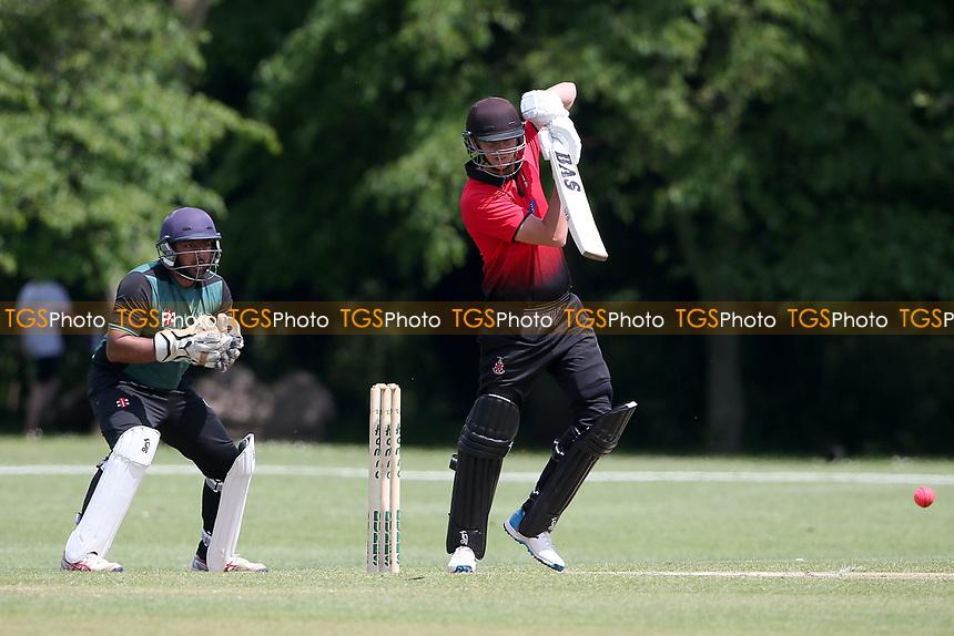 B Gordon in batting action for Hornchurch during Hornchurch CC vs Harold Wood CC, Hamro Foundation Essex League Cricket at Harrow Lodge Park on 5th June 2021