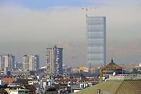 - Milan, landscape from the terrace of Vittorio Emanuele II gallery, Skyscraper City Life<br /> <br /> - Milano, panorama dalla terrazza della Galleria Vittorio Emanuele II, grattacielo City Life