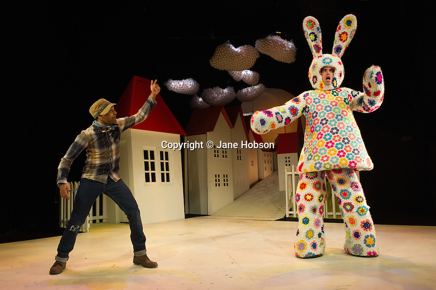 JACK AND THE BEANSTALK opens at the Theatre Royal Stratford East. Written by Paul Sirett with original music by Wayne Nunes and Perry Melius. Directed by Dawn Reid. Picture shows: Jorell Coiffic-Kamall (Jack) and Vlach Ashton (Dizzy).