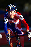 03 NOV 2012 - IPSWICH, GBR - Helen Wyman (GBR) of Great Britain makes her way round the course during the Elite Women's European Cyclo-Cross Championships in Chantry Park, Ipswich, Suffolk, Great Britain (PHOTO (C) 2012 NIGEL FARROW)