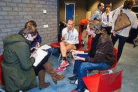 Februari 04, 2015, Apeldoorn, Omnisport, Fed Cup, Netherlands-Slovakia, Predraw persconferentie, Kiki Bertens (NED)<br /> Photo: Tennisimages/Henk Koster
