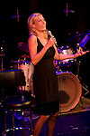 Internationally renowned chanteause Ute Lemper belts out a tune on the stage at The Zipper Theater in New York City on August 25th in 2007. Designer Charl Kroger produced her show to benefit the hiv/aids services of the LGBT center in Manhattan.