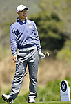 JEJU, SOUTH KOREA - APRIL 24:  Anthony Kim of USA prepares to tee off on the 12th hole during the Round Two of the Ballantine's Championship at Pinx Golf Club on April 24, 2010 in Jeju island, South Korea. Photo by Victor Fraile / The Power of Sport Images