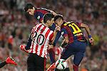 Barcelona´s Neymar Jr and Luis Suarez and Athletic de Bilbao´s Aritz Aduriz during 2014-15 Copa del Rey final match between Barcelona and Athletic de Bilbao at Camp Nou stadium in Barcelona, Spain. May 30, 2015. (ALTERPHOTOS/Victor Blanco)