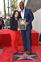 LOS ANGELES, CA. October 01, 2019: Tyler Perry & Rana Ghadban at the Hollywood Walk of Fame Star Ceremony honoring Tyler Perry.<br /> Pictures: Paul Smith/Featureflash