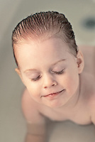 Boy in bath tub.<br />