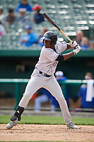 Kane County Cougars shortstop Jasrado Chisholm (3) at bat during a game against the South Bend Cubs on May 3, 2017 at Four Winds Field in South Bend, Indiana.  South Bend defeated Kane County 6-2.  (Mike Janes/Four Seam Images)