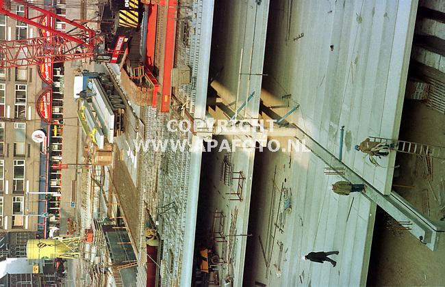 Archieffoto van de bouw van een parkeergarage in Venlo.<br />nr 980784  -  B.17