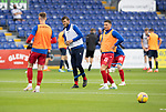Ross County v St Johnstone…31.07.21  Global Energy Stadium<br />Jamie McCart, Murray Davidson and Michael O'Halloran pictured during the warm up<br />Picture by Graeme Hart.<br />Copyright Perthshire Picture Agency<br />Tel: 01738 623350  Mobile: 07990 594431