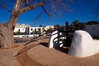 Spanien, Balearen, Ibiza, Wasserrad in Jesus