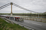 The peloton during Stage 5 of Paris-Nice 2021, running 200km from Vienne to Bollene, France. 11th March 2021.<br /> Picture: ASO/Fabien Boukla   Cyclefile<br /> <br /> All photos usage must carry mandatory copyright credit (© Cyclefile   ASO/Fabien Boukla)
