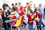 Spain's supporters before the up match between Spain and Georgia before the Uefa Euro 2016.  Jun 07,2016. (ALTERPHOTOS/Rodrigo Jimenez)