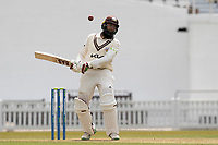 Hashim Amla of Surrey CCC avoids a short delivery during Surrey CCC vs Hampshire CCC, LV Insurance County Championship Group 2 Cricket at the Kia Oval on 30th April 2021