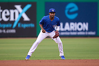 Dunedin Blue Jays shortstop Orelvis Martinez (11) during a game against the Bradenton Marauders on May 13, 2021 at BayCare Ballpark in Clearwater, Florida.  (Mike Janes/Four Seam Images)