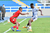 CALI – COLOMBIA, 27-02-2021: Jugadores del Atlético y Cortuluá en acción durante el partido entre Atlético FC y Cortuluá por la fecha 8 del Torneo BetPlay DIMAYOR 2021 jugado en el estadio Pascual Guerrero de la ciudad de Cali. / Players of Atletico and Cortulua in action during match between Atletico FC and Cortulua for the date 8 as part of BetPlay DIMAYOR Tournament 2021 played at the Pascual Guerrero stadium in Cali city. Photos: VizzorImage / Nelson Rios / Cont.