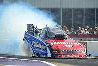 Apr. 27, 2012; Baytown, TX, USA: NHRA funny car driver Bob Tasca III during qualifying for the Spring Nationals at Royal Purple Raceway. Mandatory Credit: Mark J. Rebilas-