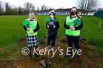 Presentation Secondary Tralee students, planting a tree for National Tree eek at the school on Friday. L to r: Sinead Forrest, Emma Flanagan and Courtney Harnett.