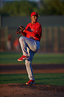 AZL Angels relief pitcher Emmanuel Duran (51) during an Arizona League game against the AZL D-backs on July 20, 2019 at Salt River Fields at Talking Stick in Scottsdale, Arizona. The AZL Angels defeated the AZL D-backs 11-4. (Zachary Lucy/Four Seam Images)