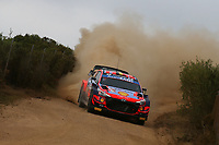 6th June 2021; Olbia, Sardinia, Italy; WRC Rally of Sardegna, final day; Stages SS17-SS20;  Thierry Neuville-Hyundai i20 WRC finishes 3rd