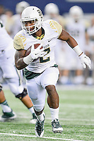 Baylor running back Johnny Jefferson (2) rushes with the ball during an NCAA Football game, Saturday, November 29, 2014 in Arlington, Tex. Baylor defeated Texas Tech 48-46. (Mo Khursheed/TFV Media via AP Images)