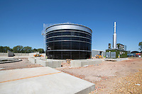 AD construction site - primary digester tank, constructed and ready for insulating and cladding