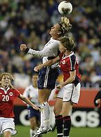 Abby Wambach v Brit Sandaune(Norway) 2003 WWC USA/Norway quarter final.